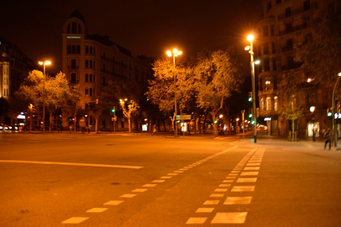 City streets at night